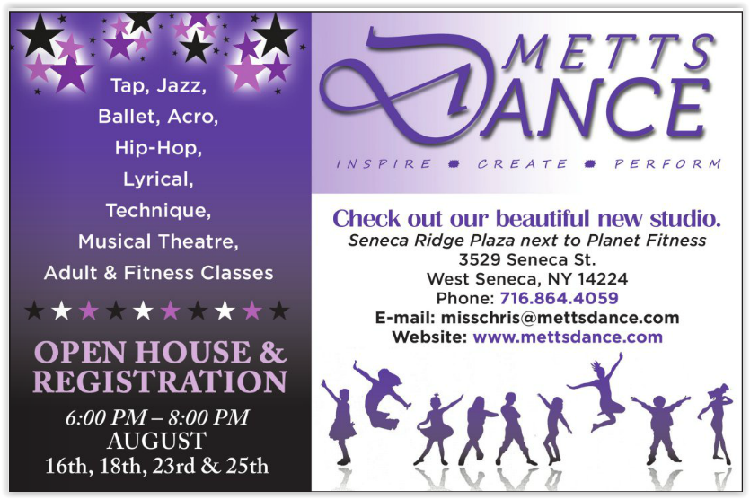 Check out METTS Dance Ad in the new edition of WNY Family Magazine
