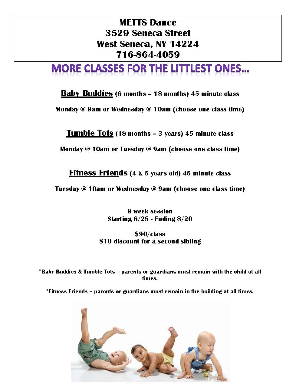 Baby, Toddler, and Preschool Dance Classes in West Seneca and Buffalo NY 14224