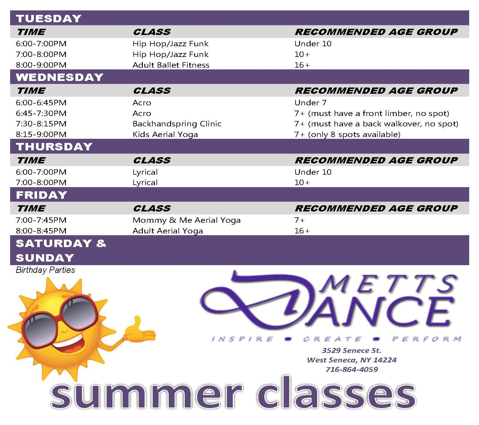 Dance Studio Classes in West Seneca and Buffalo NY 14224